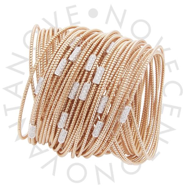 """""""tubo gas"""" bracelet in 18K rose gold with diamonds"""